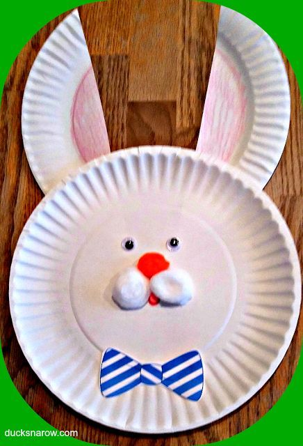 Easter Bunny Paper Plate Craft for Kids - Ducks u0027n a Row & Easter Bunny Paper Plate Craft for Kids | Bunny crafts Bunny and Easter