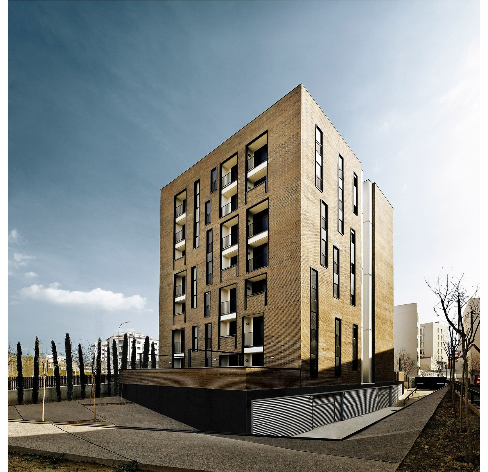 APARTMENT BUILDING WITH 42 UNITS FOR YOUTHS - Explore, Collect and Source architecture