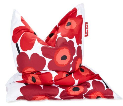 fatboy sitzsack marimekko unikko red sitzsack. Black Bedroom Furniture Sets. Home Design Ideas