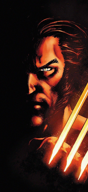 Logan Bw Wolverine Superhero X Men Minimal 1280x2120 Wallpaper Wolverine Superhero Wallpaper Wolverine Superhero