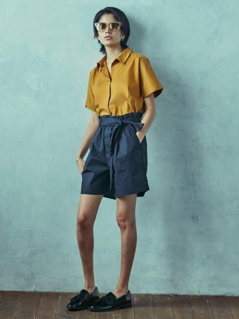 45f8cacd7e Women high rise belted shorts | UNIQLO Summer 2017 | Belted shorts ...