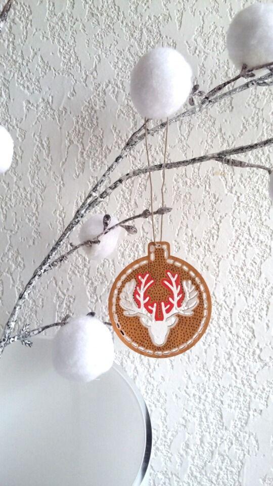 Décoration de Noël, boule de Noël, boule de sapin cuivré blanc rouge : Accessoires de maison par art-monize31