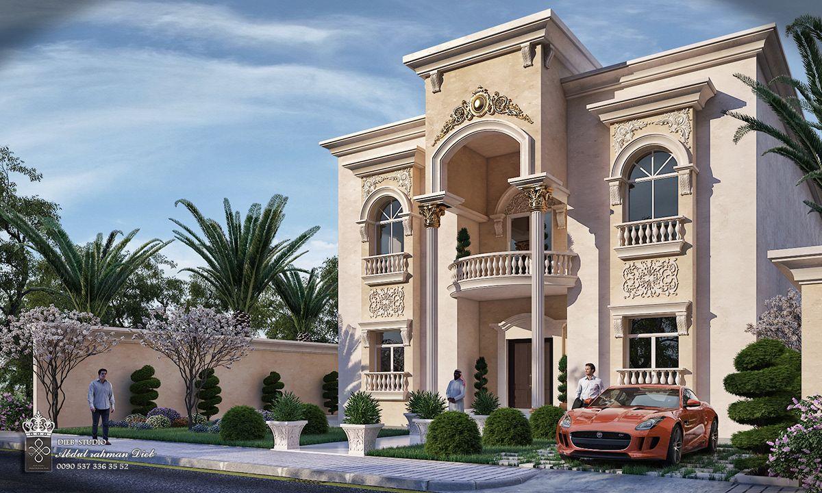 Small Classic Villa On Behance Classic House Design Classic