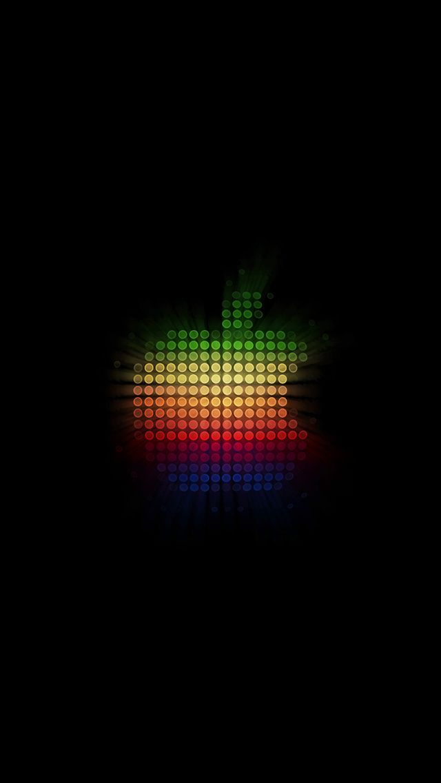 Colorful Dots Apple Logo iPhone 5s wallpaper Iphone