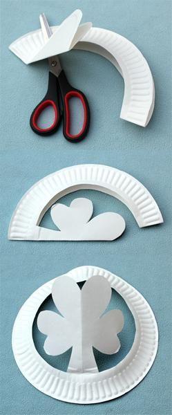 Paper Plate Shamrock Hats St Patricks Day Craft For Kids
