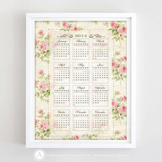 Printable calendar 2014 wall calendar retro calendar by ameliycom printable calendar 2014 wall calendar retro calendar by ameliycom 500 solutioingenieria Images