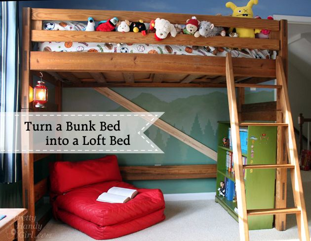 Diy Loft Bed Bunk Beds, Can You Turn A Regular Bunk Bed Into Loft