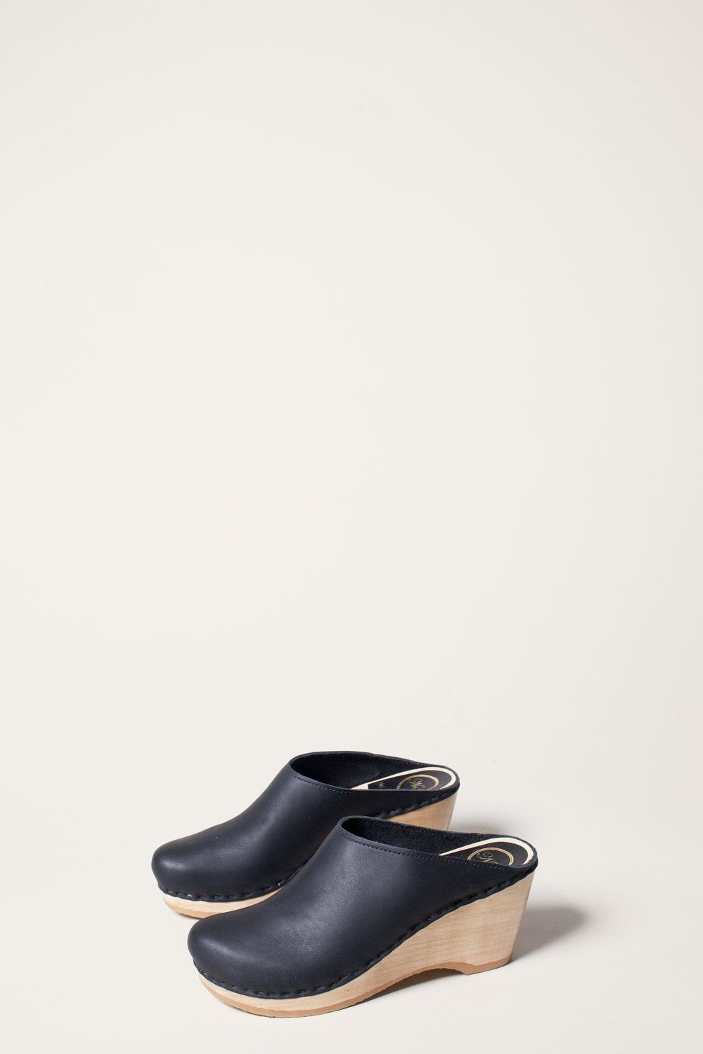 No6 New School Clog On Wedge In Black No6 Ss17 Clogs In 2018
