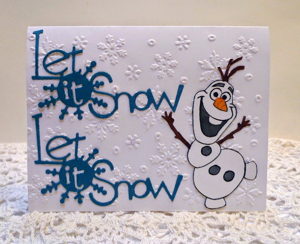Disney/'s Frozen Olaf Small Christmas Greeting Card NEW