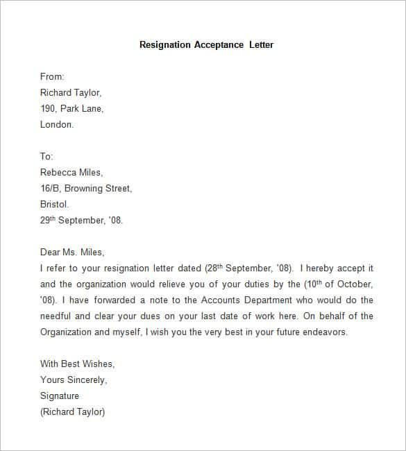 resignation letter template free word pdf documents download - free resignation letter