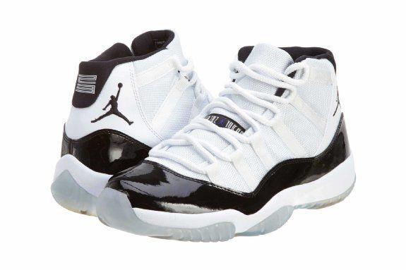 99023fabd710 Amazon.com  Nike Men s Air Jordan 11 Retro Sneaker s White Black Dark  Concord 378037 107  Shoes