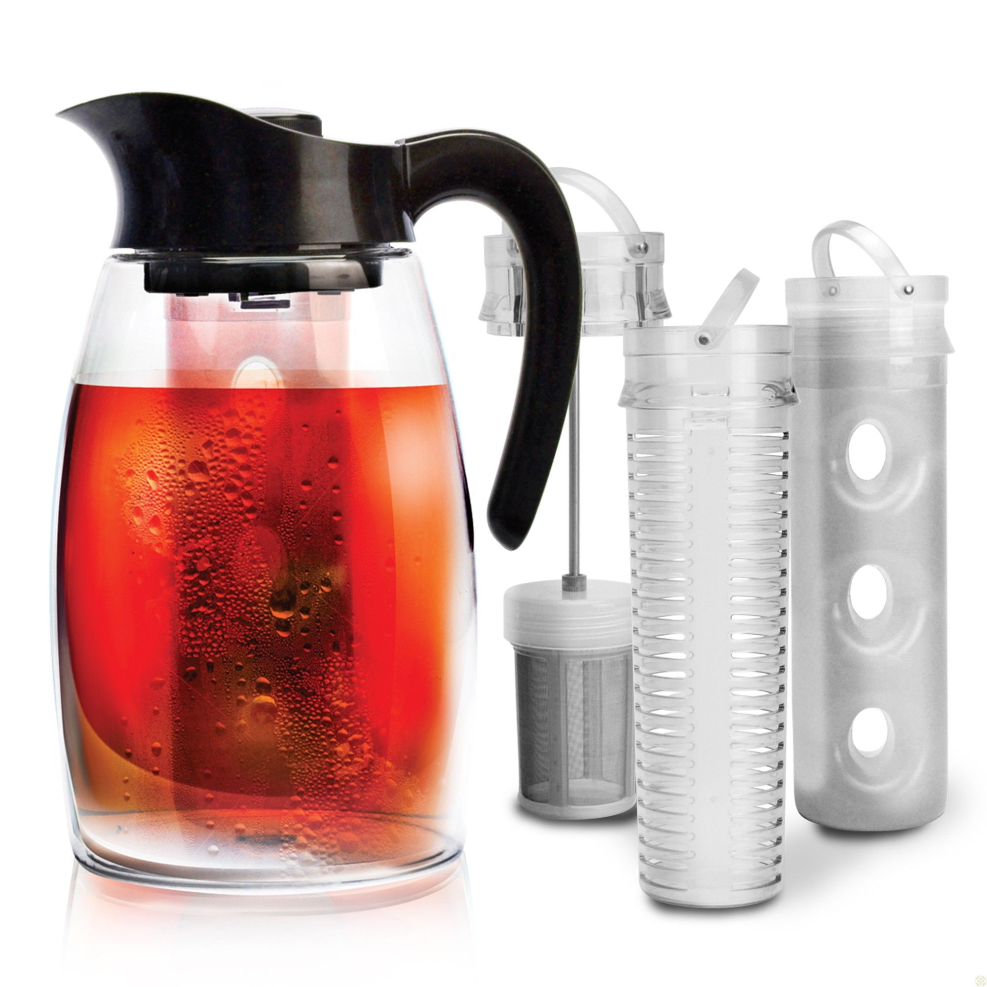 Flavor It Pitcher 3 In 1 Beverage System Fruit Infused Water Bottle Beverages Infused Water Bottle