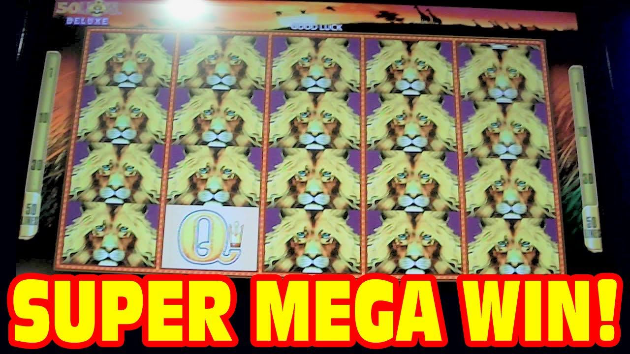 A SUPER MEGA WIN on the NEW version of 50 Lions DELUXE