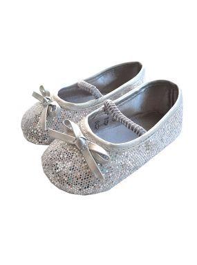 Billieblush silver glitter baby pre walker shoes | Joseph M for ...