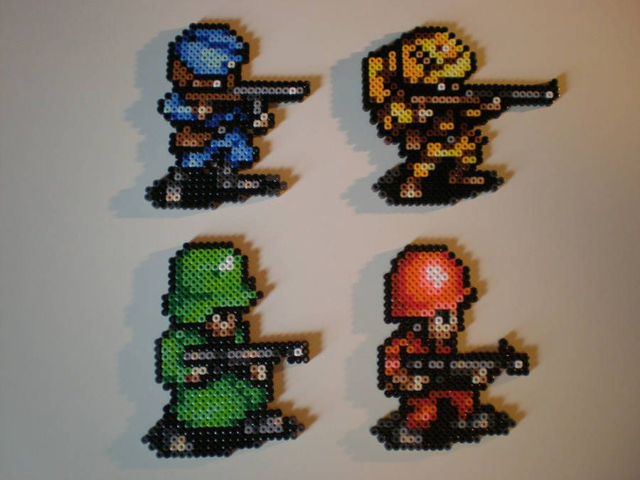 Advance Wars Soldiers By 8 Bitbeadsstudio Perler Beads Advance