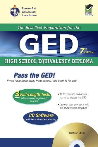 GED w/ CD-ROM (REA) - The Best Test Prep for the GED: 7th Edition (Test Preps) by S. Cameron. $16.47. Publisher: Research & Education Association (July 13, 2004). Publication: July 13, 2004