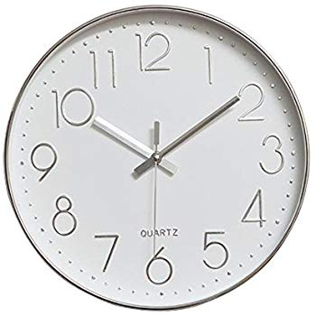 Amazon Com Jomparis 12 Inch Non Ticking Wall Clock Silent Battery Operated Round Wall Clock Plastic Frame Wall Clock Minimalist Wall Clocks Wall Clock Elegant