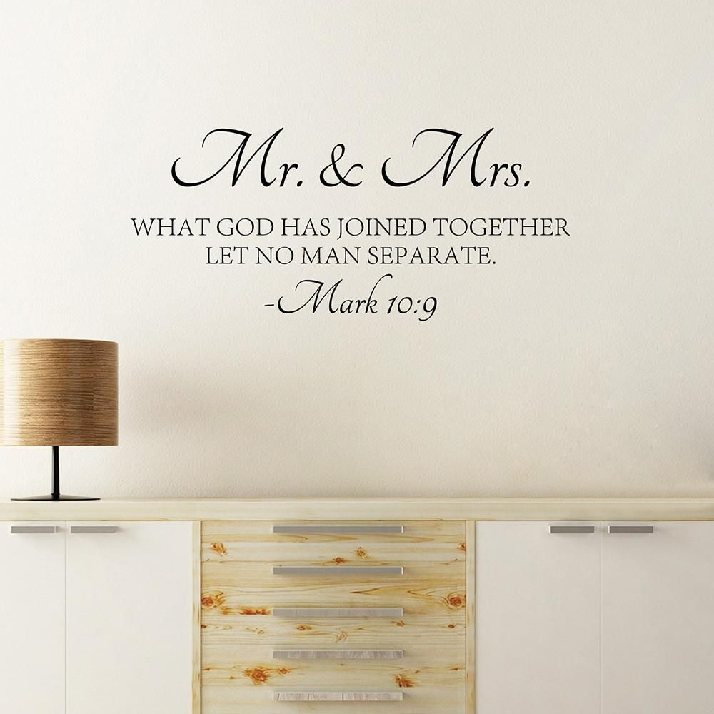 Mr u mrs mark in products pinterest wall decals