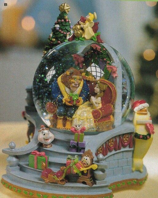 Disney Christmas Snow Globes.Beauty And The Beast Enchanted Christmas Snow Globe My