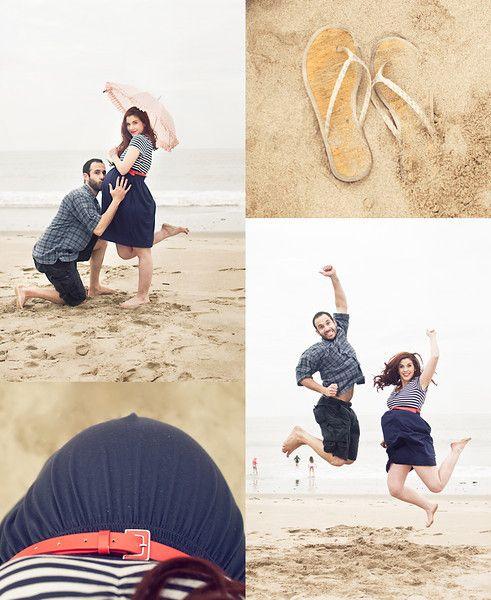 Beach maternity shots--SO cute!