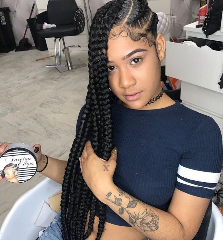 Follow Slayinqueens For More Poppin Pins Cool Braid Hairstyles Box Braids Hairstyles Braided Hairstyles