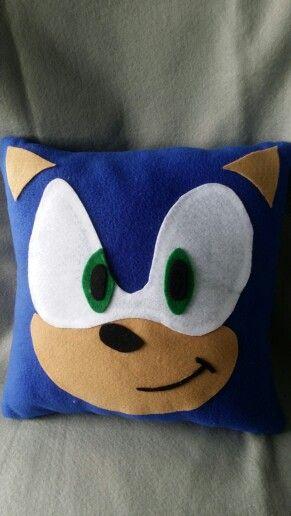 Sonic the hedgehog throw pillow my work Pinterest