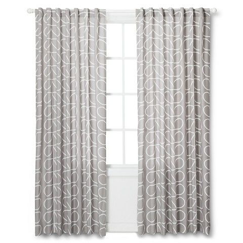 Curtains Ideas 36 inch curtains target : Orla Kiely Curtain Panel - Gray Leaf. Option for Justin's office ...