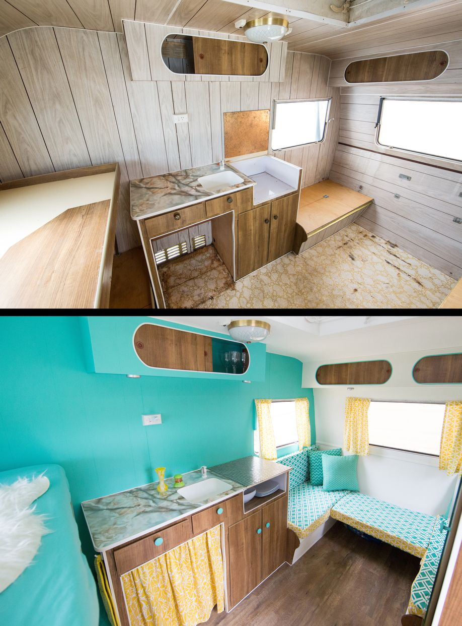 01Restored Caravan Before and After