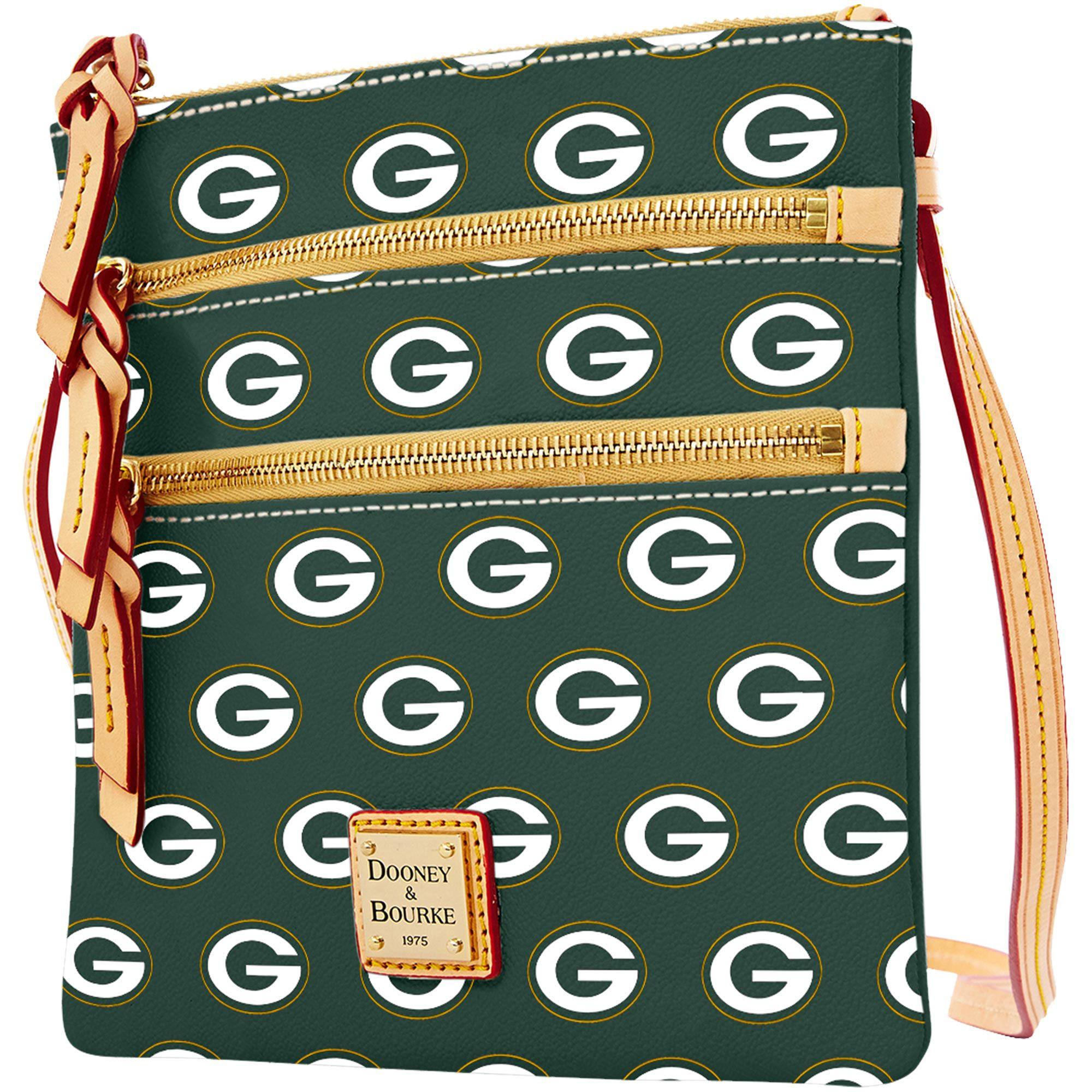 NFL Green Bay Packers Dooney   Bourke Women s Triple Zip Crossbody Purse -  Green 3361d17ec