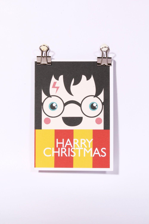 Harry Christmas Card Harry Potter Themed Christmas A6 Card. £2.50 ...