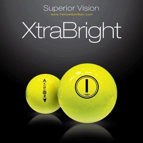Der Vision UV X3 Yellow #Golfball verbindet die Eigenschaften eines regulären Premium-Golfballs mit denen eines Night-Glowballs. Durch seine einzigartige UV-Absorption ist der UV X3 weithin sichtbar und somit auch für das Golfspiel bei schlechter Sicht geeignet.