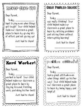 parent communication and positive notes home in 2018 parent