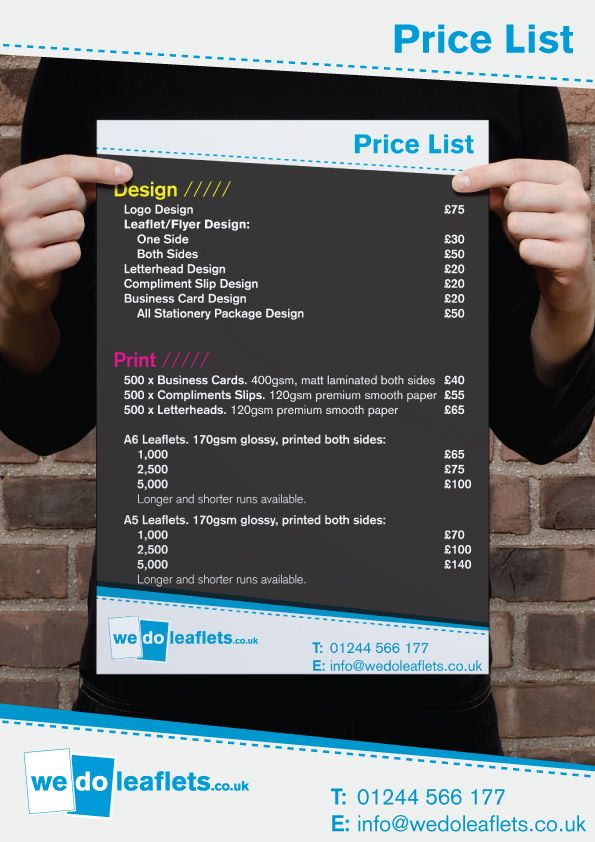 graphic designer price list google search design price list