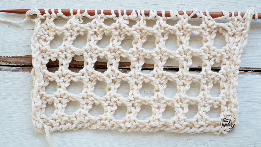 Punto Falso Crochet: un calado fácil en dos agujas | Knitting ...