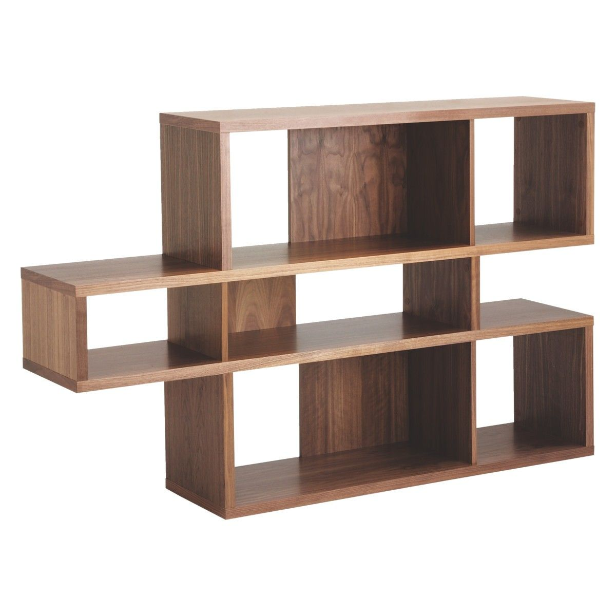 sports shoes 85624 943c5 ANTONN Low walnut veneer shelving unit | bookshelves ...