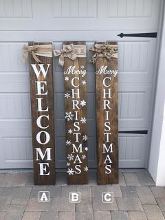 Front Porch Signs Welcome Christmas Large Burlap Rustic Snowflakes Winter Garden Fl Christmas Christmas Signs Diy Christmas Wooden Signs Christmas Signs Wood