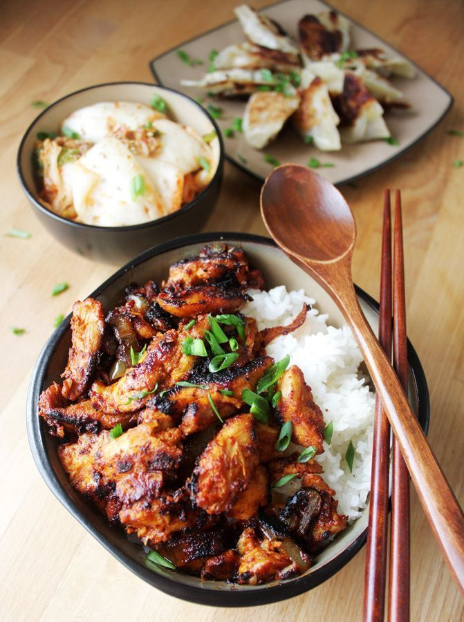 Spicy korean chicken korean chicken korean food recipes and pizza spicy korean chicken dakgalbi forumfinder Image collections