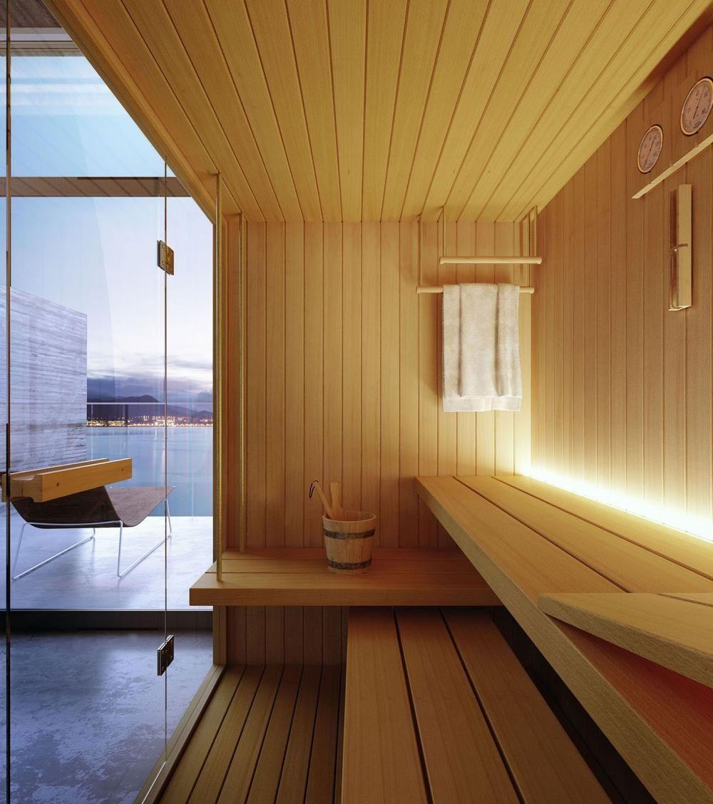 Finnish sauna ROPE By Glass1989 design Meneghello Paolelli Associati
