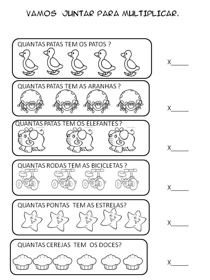 Dani Educar : atividades de multiplicação - 2º ano | atividades de ...