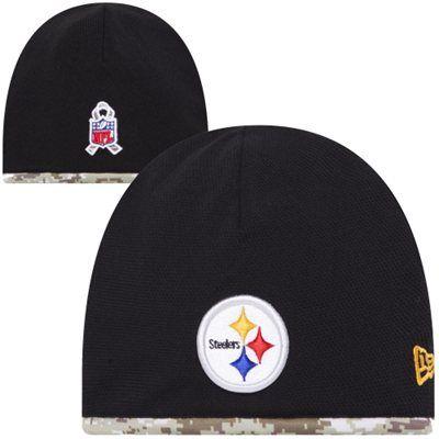 f0540f079 New Era Pittsburgh Steelers Salute to Service Youth On-Field Knit Beanie -  Black Digital Camo  SalutetoService