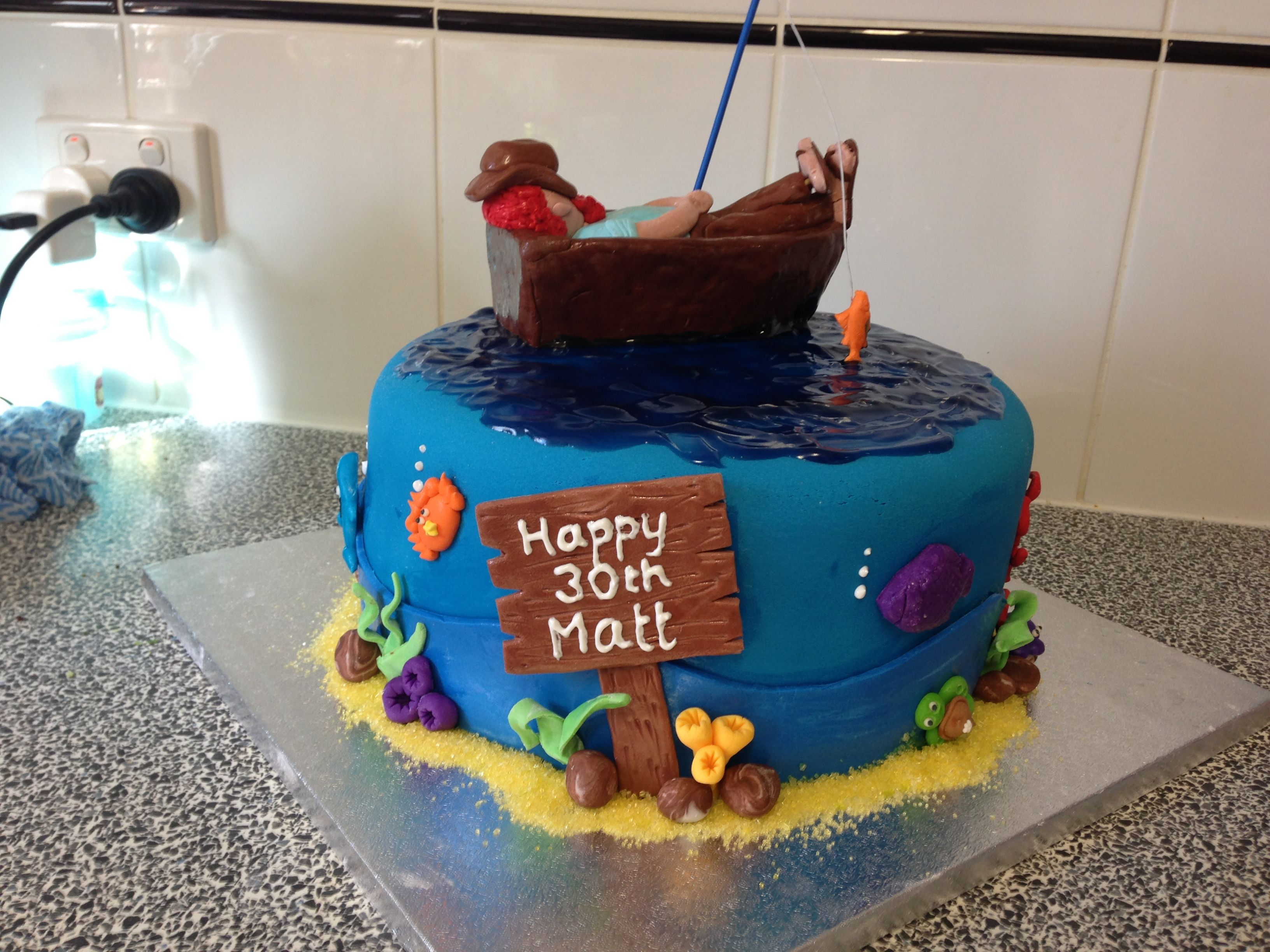 Fishing sea themed cake