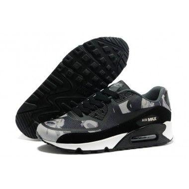 Nike Air Max 90 Black Tape Prem Mens Shoes New Dark Grey
