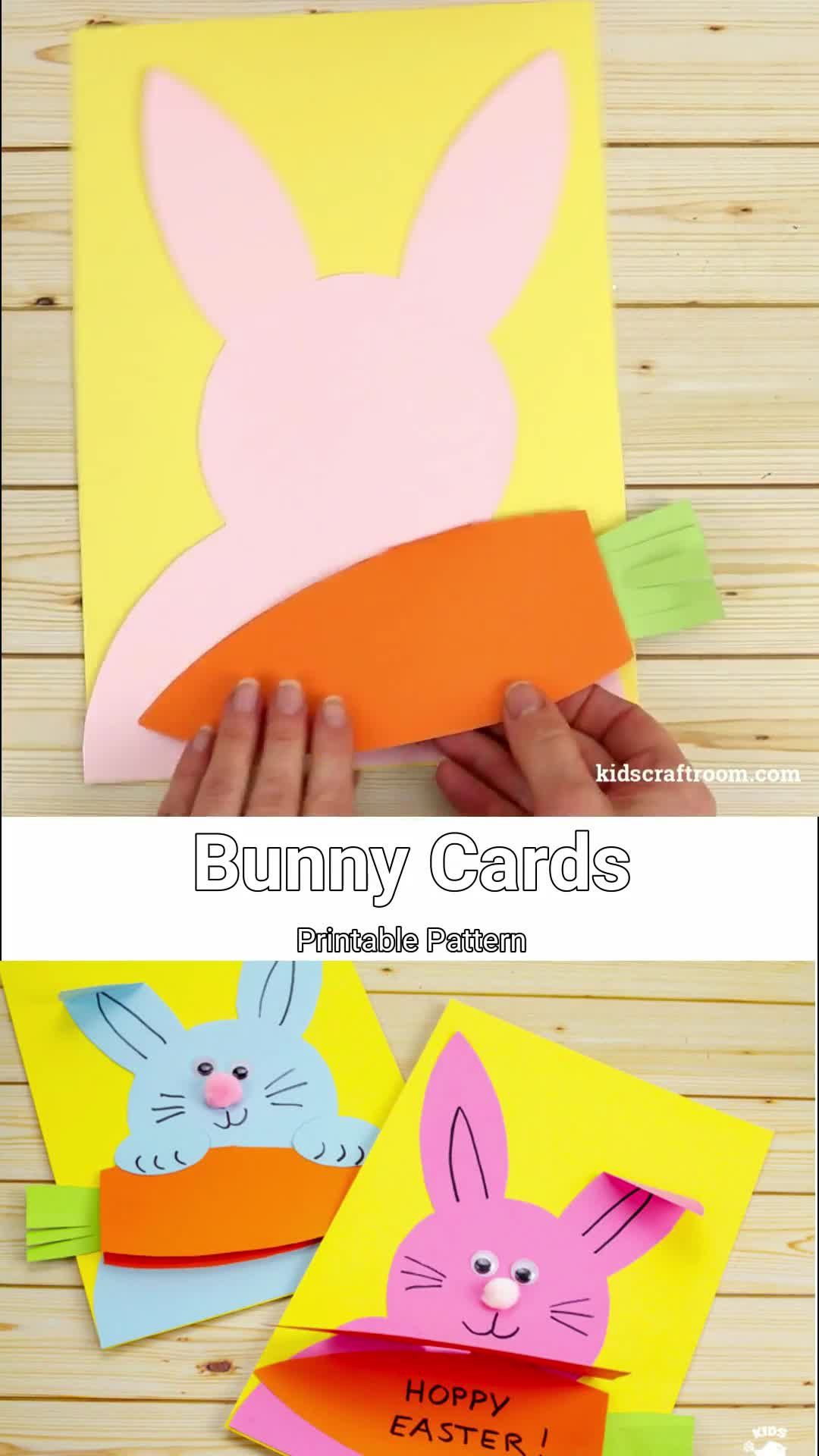 Photo of Carrot Nibbling Easter Bunny Cards