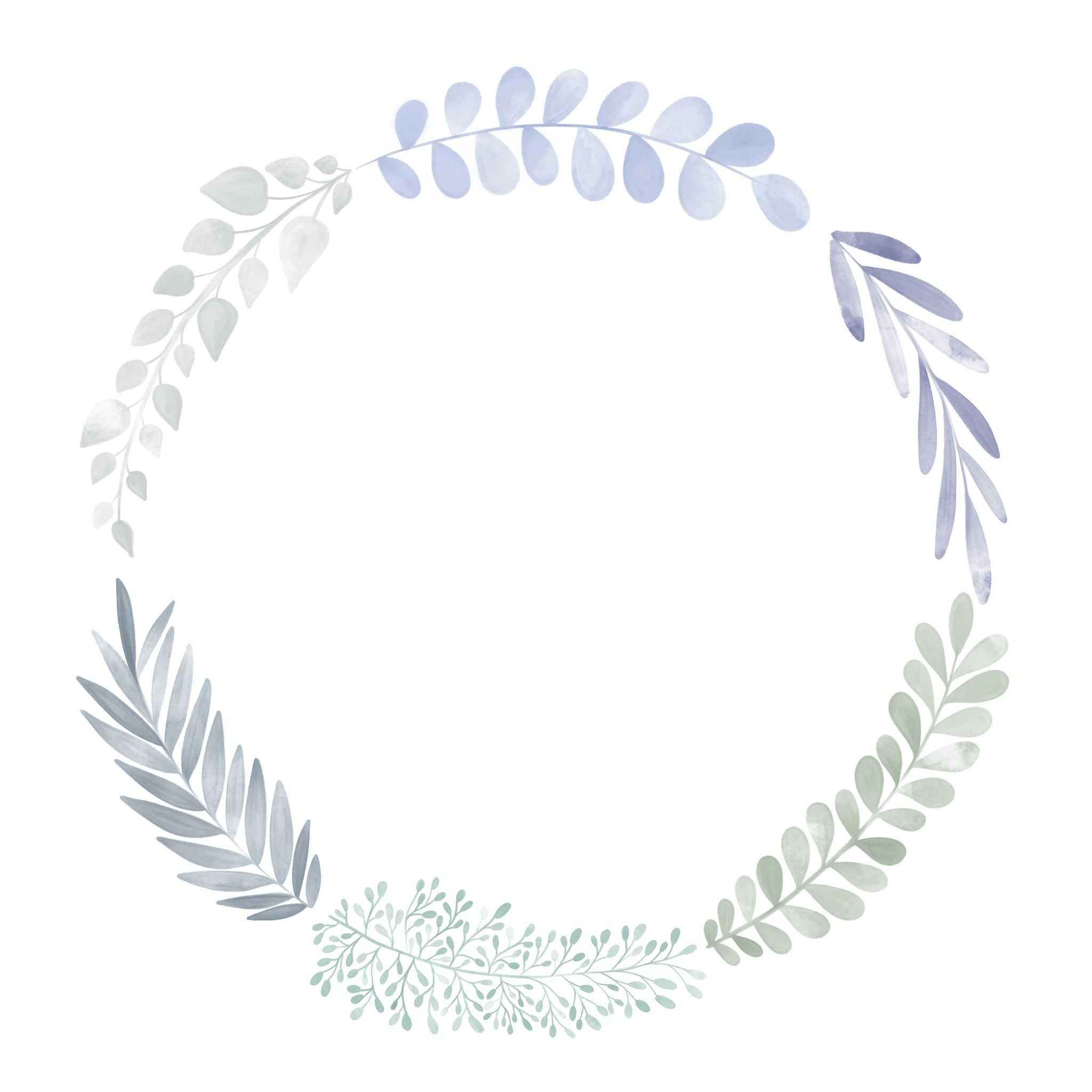 Photo of Free floral doodle watercolor aquarelle wreath, floral wreath, printable wreath