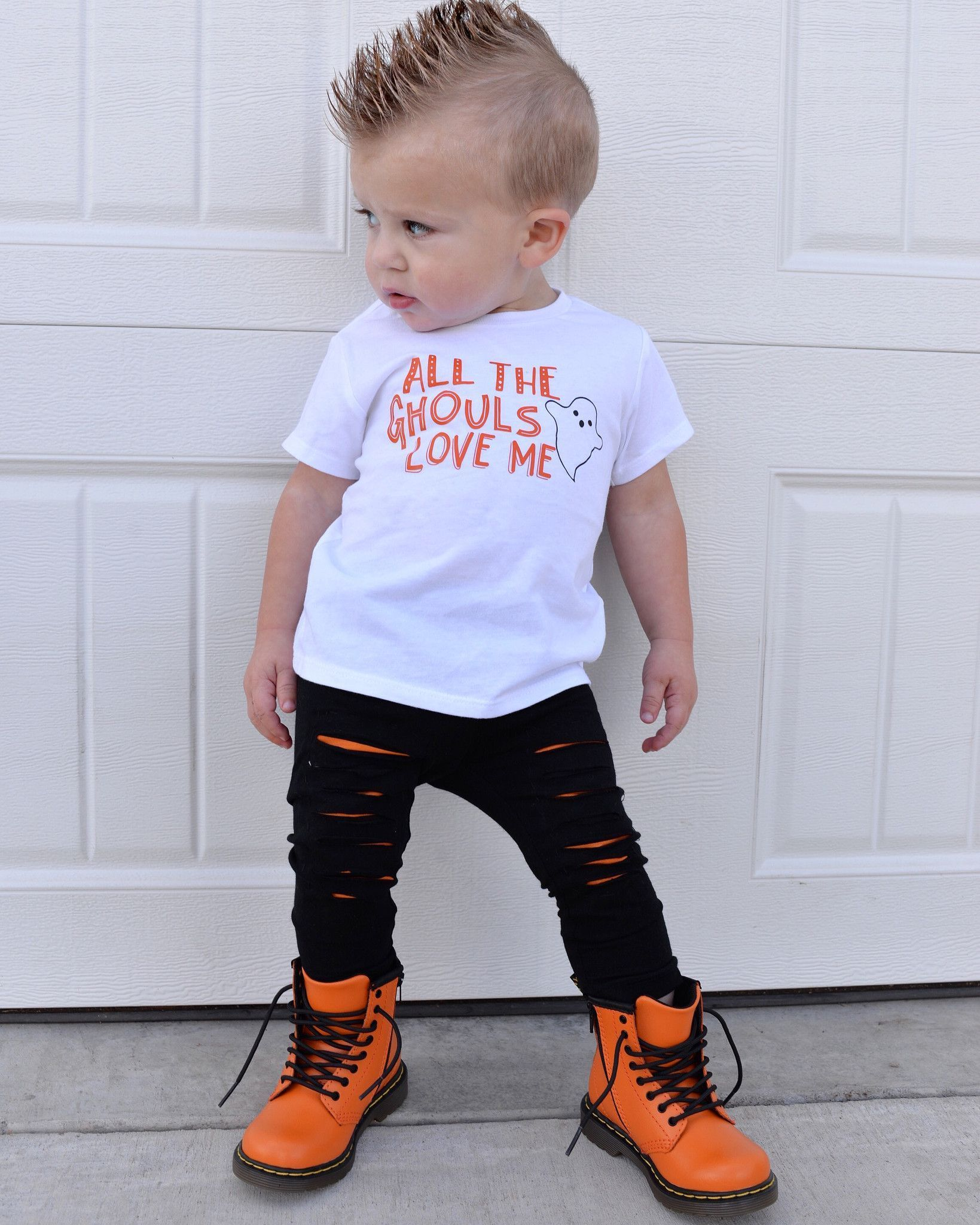 all the ghouls love me cute ghost shirt for boy | pinterest