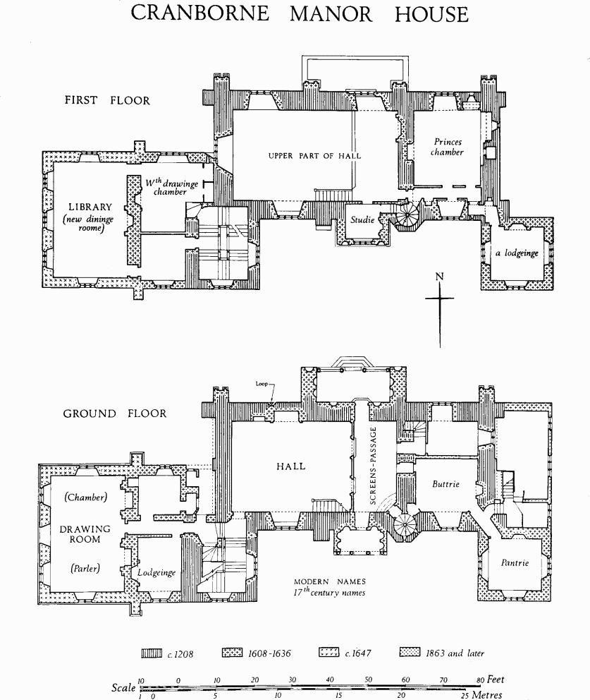 Cranborne manor house floorplan pinterest manor for Manor house plans