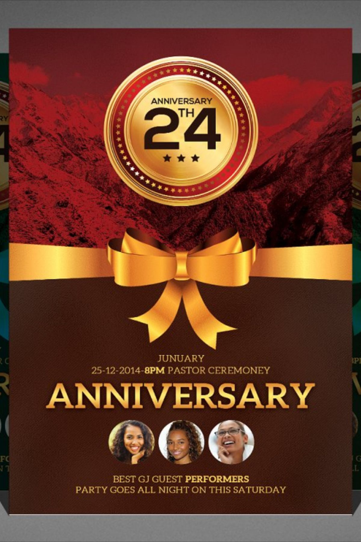 Church Anniversary Flyer Flyer, Psd template free