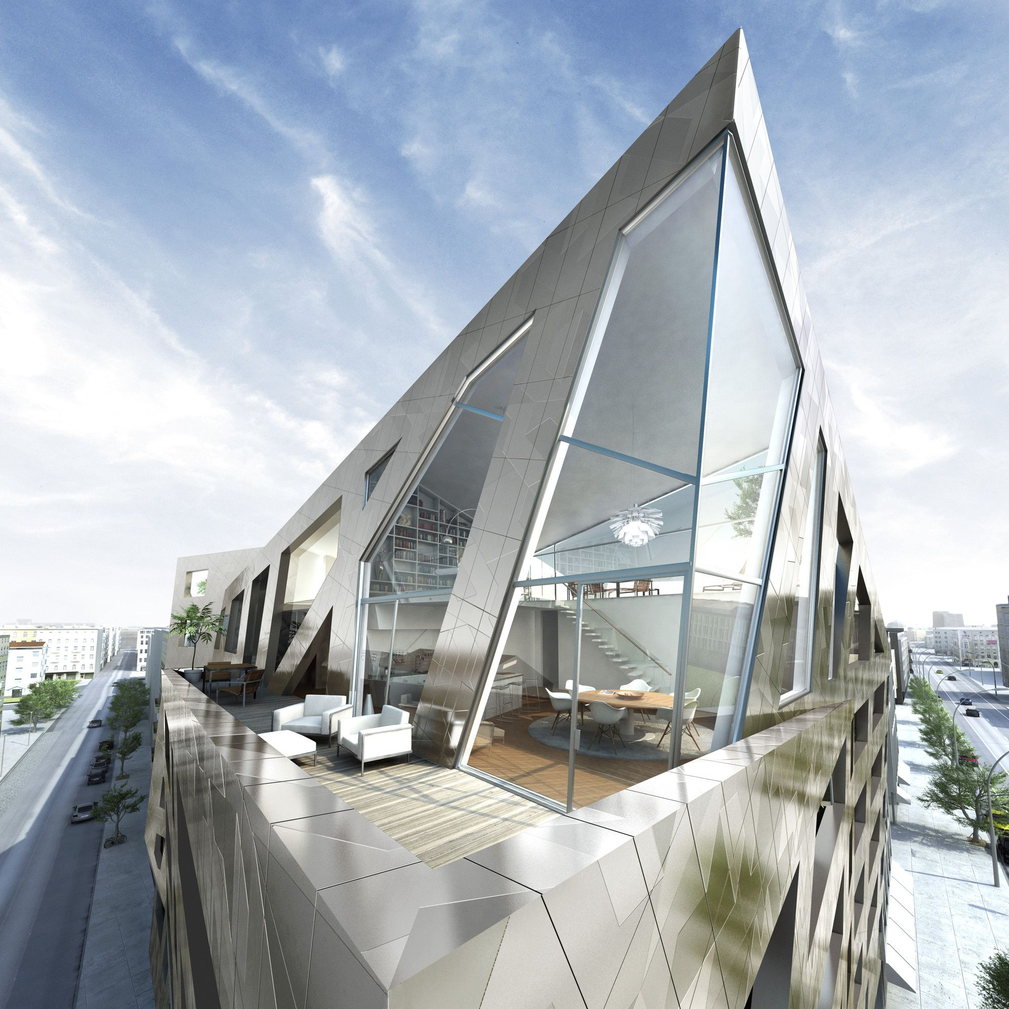 gallery of daniel libeskind designs apartment building for berlin 2