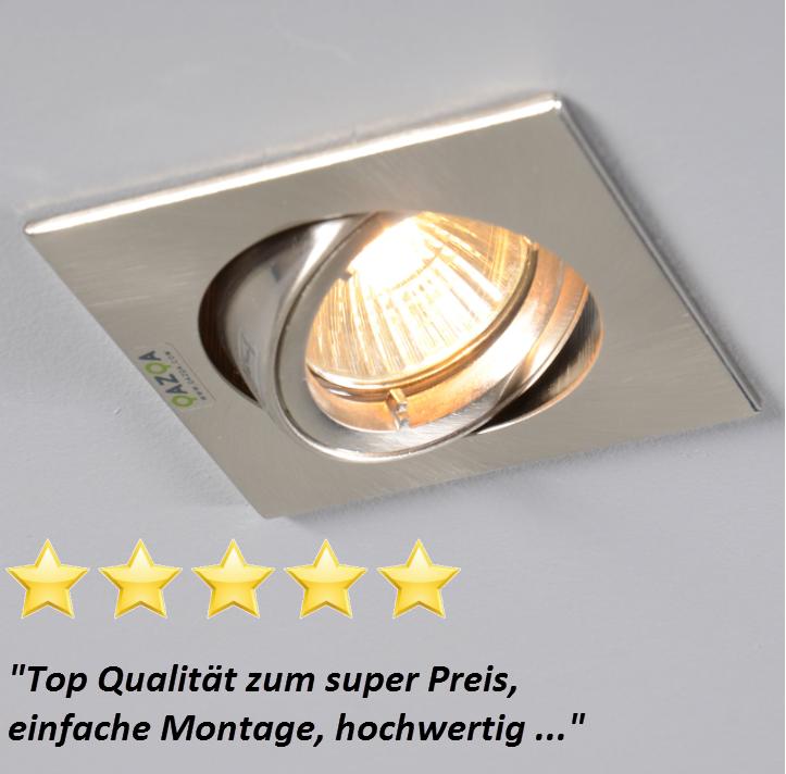 Fresh Einbaustrahler Safe quadratisch Stahl bestseller einbaustrahler innenbeleuchtung lampen leuchten