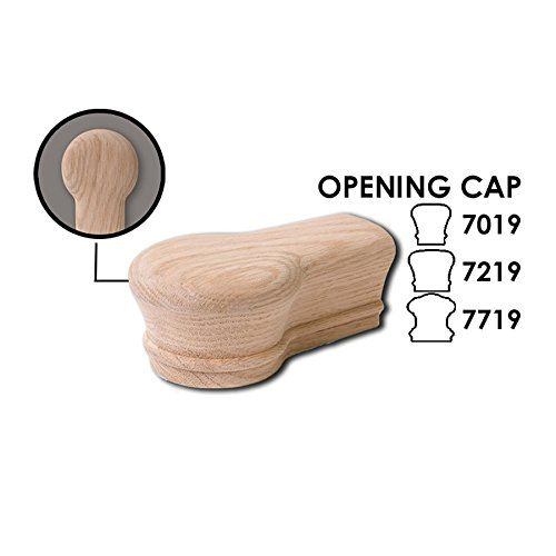 Best Red Oak Opening Cap 6710 Wood Staircase Handrail Fitting 640 x 480